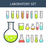 Chemical test tubes icons Stock Photography