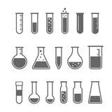 Chemical test tubes icons Stock Photo