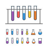 Chemical test tubes icons Royalty Free Stock Photos