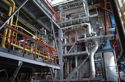 Chemical tillverkning. Royaltyfria Foton