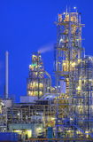 Chemical Tower. Tower in a large industrial complex, photographed at night Stock Image