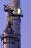 Chemical Towers stock image