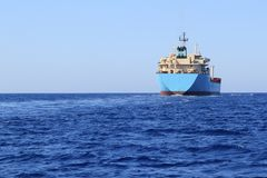 Chemical transport boat offshore sailing tanker Stock Photography