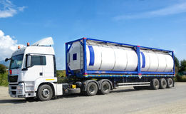 Chemical transport container Stock Photography