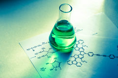 Free Chemical Tube With Reaction Formula Stock Images - 88765034