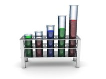 Chemical tubes Stock Photography