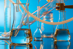 Chemical ware in the science Royalty Free Stock Images