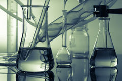 Chemical ware in the science. Lab laboratory stock photography