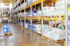 Chemical warehouse Royalty Free Stock Photography