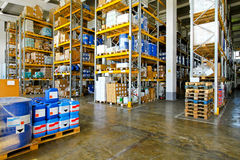 Chemical warehouse Royalty Free Stock Photos