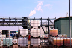 Chemical warehouse Royalty Free Stock Photo
