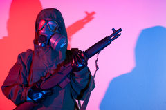 Chemical warfare security Stock Photography