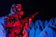 Chemical warfare soldier Royalty Free Stock Photography