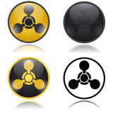 Chemical weapon warning, hazard sign Stock Images