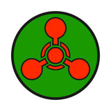 Chemical weapon warning, hazard sign Stock Photos