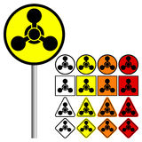 Chemical Weapons Symbol - vector illustration Royalty Free Stock Image
