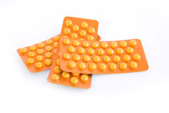 Chemicals. This is an orange phial with chemicals Stock Image