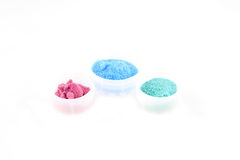 Chemicals. Samples of inorganic salts of diverse colors Royalty Free Stock Photos
