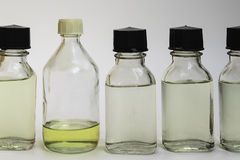 Chemicals in Bottles Royalty Free Stock Photo