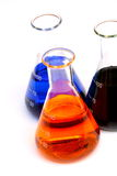Chemicals in glass flask Royalty Free Stock Photos