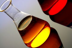 Chemicals in glass flask Royalty Free Stock Photography
