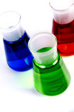 Chemicals in Laboratory Glassware Royalty Free Stock Image