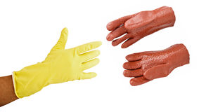 Chemicals protective gloves Stock Photos