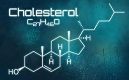 Chemiczna formuła cholesterol royalty ilustracja