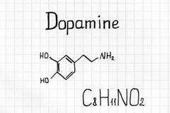Chemiczna formuła dopamine zdjęcia royalty free