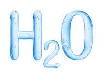 Chemiczna formuła odizolowywająca na białym tle woda ilustracji