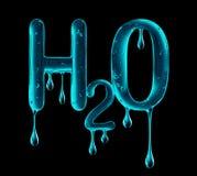 Chemiczna formuła robić viscous ciecz na czerni woda Obraz Royalty Free