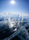 Chemiczna formuła woda H2O Zdjęcia Stock