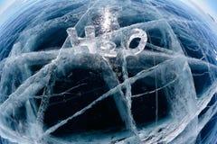 Chemiczna formuła woda H2O Obraz Royalty Free