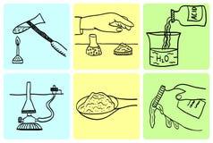 chemiczne laboranckie reguły Obrazy Royalty Free