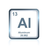 Chemicznego elementu aluminium od Okresowego stołu Zdjęcie Royalty Free