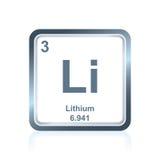 Chemicznego elementu lit od Okresowego stołu Fotografia Stock