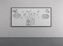 Chemiczni elementy H2O i O2 royalty ilustracja