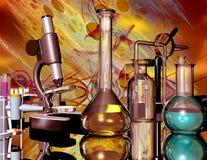 chemiczni przyrząda ilustracja wektor