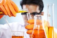 chemiczny eksperyment fotografia royalty free