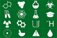 Chemiczny ikona set Fotografia Stock