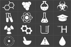 Chemiczny ikona set Obrazy Stock