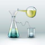 Chemiczny laborancki eksperyment Zdjęcie Royalty Free