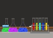 Chemiczny laboratorium badawczego wyposażenie dla naukowych experimen Zdjęcia Stock