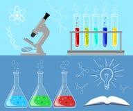 Chemiczny laboratorium badawczego wyposażenie dla naukowych experimen Obrazy Stock