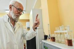 Chemiczny laboratorium dla probierczego jedzenia Zdjęcie Royalty Free