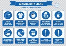 Chemiczny lub Medyczny mandatariusza znak royalty ilustracja