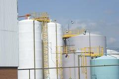 chemiczny składowy zbiornik Fotografia Stock