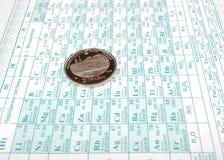chemicznych elementów okresowy stół Fotografia Stock