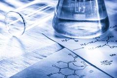 Chemie beim Tonen Stockbild