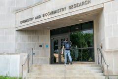 Chemie en Biochemie de Onderzoekbouw bij Universiteit van AR royalty-vrije stock afbeeldingen